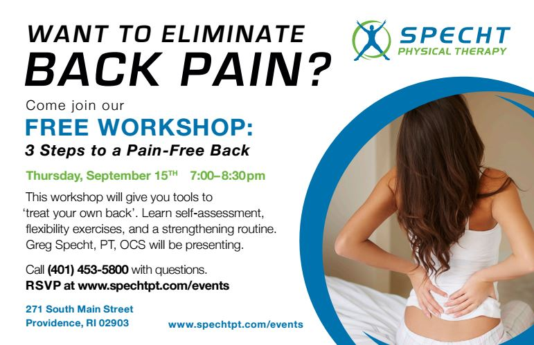 3 Steps to a Pain-Free Back