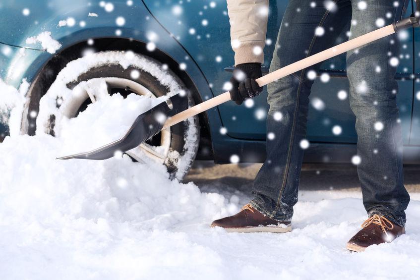 Avoiding Back Injury While Shoveling Snow
